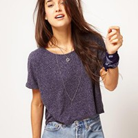 ASOS Crop Textured T-Shirt at asos.com