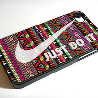 just do it case nike case aztec case - iPhone 4 / iPhone 4S / iPhone 5 Case Cover 451K