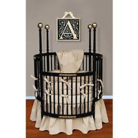Baby Doll Bedding Sensation Round Crib Bedding Set, Gold: Baby