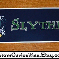 Slytherin House Crest crest sticker by CustomCuriosities on Etsy