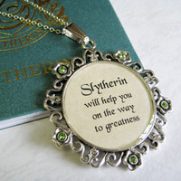 Slytherin Necklace by CissyPixie on Etsy