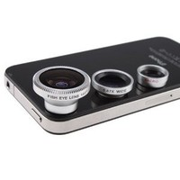 3 in 1 Camera Lens Kit Designed for Apple iPhone 4 4S iPad (Fish Eye Lens, Wide Angle + Micro Lens): Cell Phones &amp; Accessories