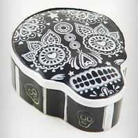 Black Sugar Skull Trinket Box | PLASTICLAND