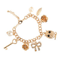 Owl Charm Bracelet | Shop Junior Clothing at Wet Seal