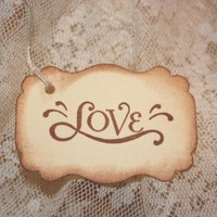 8 Love Hang Tags Wedding Wish Tree | Kibbles - Paper/Books on ArtFire