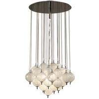 Murano 'Tulipan' Glass Bulbs Chandelier style kalmar