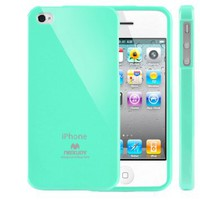 SQ1 [Mercury] Slim Fit Flexible TPU Case for Apple iPhone 4 (Turquoise Mint): Cell Phones & Accessories