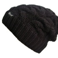 Frost Hats Winter Hat for Women BLACK Slouchy Beanie Cable Hat Knitted Winter Hat Frost Hats One Size Black: Clothing