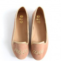Missguided - Sydnie Peace And Love Slipper Shoes In Nude