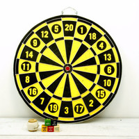Industrial Dart Board Memo Board Bullseye Yellow Black