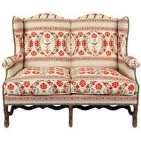 ANTIQUE WINGBACK SETTEE | seating | FLEA | Jayson Home & Garden