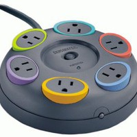 Kensington 62634 SmartSockets 6-Outlet 16 feet Cord Table Top Circular Color Coded Power Strip and Surge Protector: Computers & Accessories