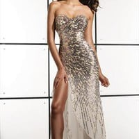 Womens Sexy Strapless Handmade Sequin Evening Dress from ElegantCollections