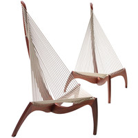 A Pair Of Harp Chairs by J. Høvelskov