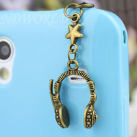 3.5mm Five-Pointed Star And Headset Dust-proof Plug For iphone 5,iphone 4s,iPhone 4,iPhone 3gs,iPod Touch 4,HTC,Nokai,Samsung,Sony-N1115