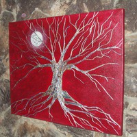 Tree of Life Painted Original on Canvas | thewild - Painting on ArtFire