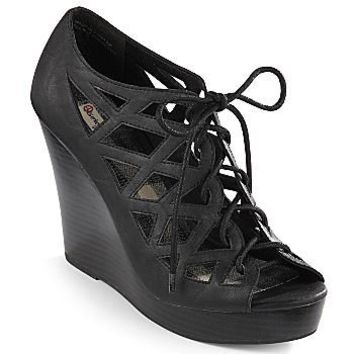 olsenboye velocity lace up wedges shoes from jcpenney