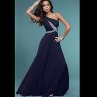 Navy prom dress. Size 14.