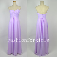 New style Strapless Sweetheart Long Lilac Chiffon Prom Dresses 2013 sale online
