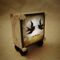 -Le petit bonheur- Handmade Light Box Display 
