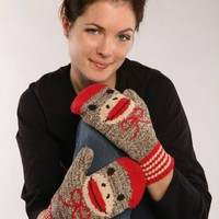 Sock Monkey Mittens - Whimsical & Unique Gift Ideas for the Coolest Gift Givers