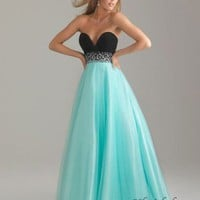 Ball Gown Sweetheart Floor-Length Tulle Sequins and Elastic Satin Prom Dress SBG0059