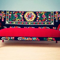 Patchwork sofa with Suzani fabrics - 3 seats