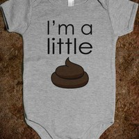 I&#x27;M A LITTLE POOP - CUTE FUNNY BABY ONSIE