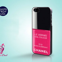 Iphone 5 case, Iphone 5 Cover, PInk Nail Polish Iphone Cases, Custom Cute Designer Protective Phone covers for Iphone 5