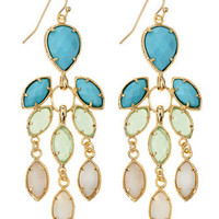 Flower Chandelier Earrings, Cabana