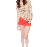 Fallen Petals Sweater in Beige :: tobi