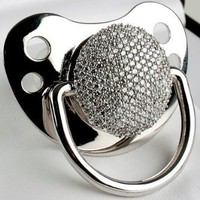 3ct Diamond Pacifier (278 Pave Set Diamonds): Baby