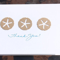 Sand Dollar Thank You Cards by RoyalRegards on Etsy