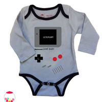SALE gamebaby grey Onesuit by SugarBabyLove on Etsy