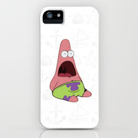 patrick star iPhone Case by Sara Eshak