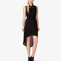 Metal Tips High-Low Dress