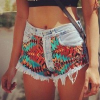 Aztec Shorts from ShopWunderlust