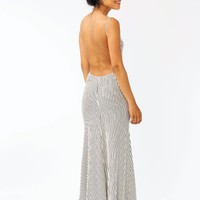 striped-maxi-dress IVORY - GoJane.com
