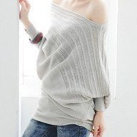 showing you  batwing sleeves tunic sweater by JoyceWang on Etsy