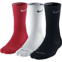 Nike Dri-Fit Half-Cushion Crew Socks - 3 pack: Sports & Outdoors