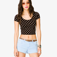 Polka Dot Crop Top | FOREVER21 - 2038846622