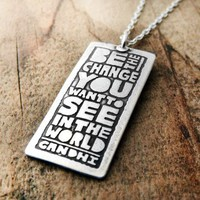 Be the change you want to see in the world by lulubugjewelry