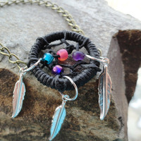 Twilight Dream Catcher Bracelet with Feathers by MidnightsMojo