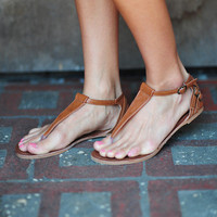 Beauty In Brown Sandals: Brown Leather | Hope's