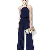 JUMPSUIT WITH METAL NECKLINE