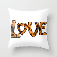LOVE Throw Pillow by Catspaws | Society6