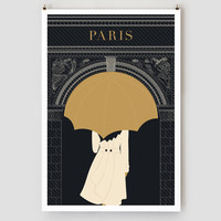 Umbrella/Arc de Triomphe Print