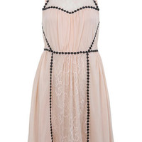 Nude Circle Trim Dress