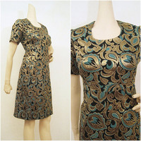 60s Dress Vintage Malcolm Starr Brocade Cocktail by voguevintage