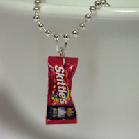 Free Chain - Kawaii Miniature Food Pendant - MINI SKITTLES Candy